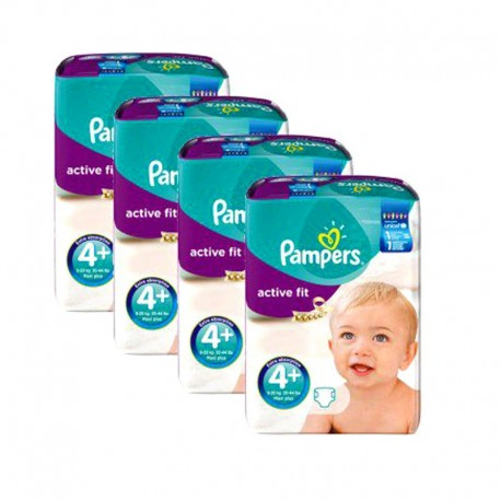 Giga Pack 248 Couches Pampers Active Fit taille 4+ sur Promo Couches