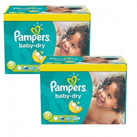 Maxi Pack 175 Couches Pampers Baby Dry taille 5+ sur Promo Couches
