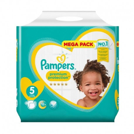 Pack 35 Couches Pampers New Baby taille 5 sur Promo Couches