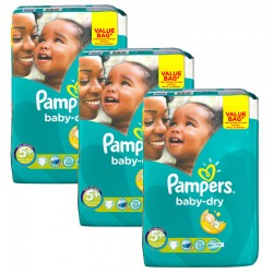 Maxi Giga Pack 168 Couches Pampers Baby Dry taille 5+ sur Promo Couches