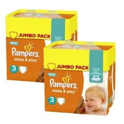 Maxi Pack 415 Couches Pampers Sleep & Play taille 3