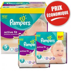 Giga Pack 376 Couches Pampers Active Fit taille 5 sur Promo Couches