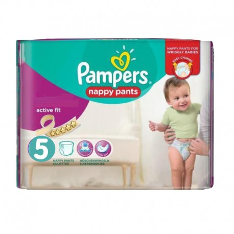 Pack 30 Couches Pampers Active Fit Pants taille 5 sur Promo Couches