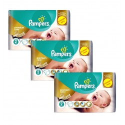 Maxi Giga Pack 190 Couches Pampers New Baby - Premium Care taille 2 sur Promo Couches
