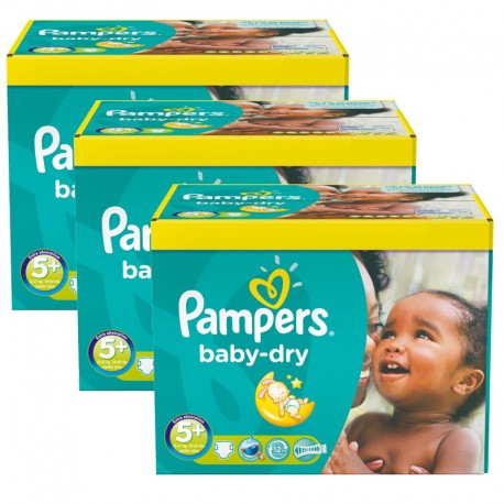 Maxi Pack 308 Couches Pampers Baby Dry taille 5+ sur Promo Couches