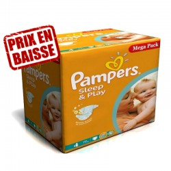 Giga Pack 216 Couches Pampers Sleep & Play taille 4