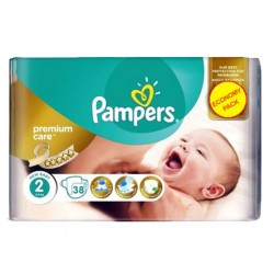 Pack 38 Couches Pampers New Baby - Premium Care taille 2