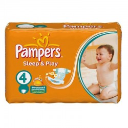 Pack 36 Couches Pampers Sleep & Play taille 4