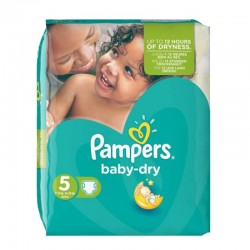 Pack 90 Couches Pampers Baby Dry taille 5