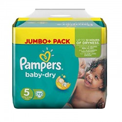 Pack 72 Couches Pampers Baby Dry taille 5 sur Promo Couches