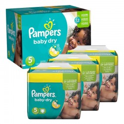 Maxi Pack 288 Couches Pampers Baby Dry taille 5