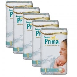 Maxi Giga Pack 154 Couches Pampers Premium Care - Prima taille 1 sur Promo Couches