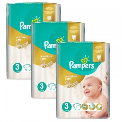 Maxi Pack 180 Couches Pampers Premium Care - Prima taille 3 sur Promo Couches