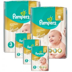 Giga Pack 340 Couches Pampers Premium Care - Prima taille 3