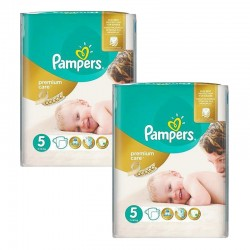 Maxi Giga Pack 104 Couches Pampers Premium Care - Prima taille 5 sur Promo Couches