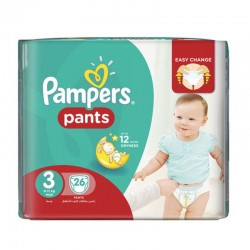 Pack 26 Couches Pampers Baby Dry Pants taille 3 sur Promo Couches