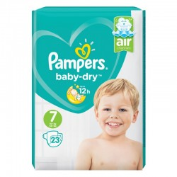 Pack 23 Couches Pampers Baby Dry taille 7 sur Promo Couches