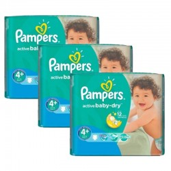 Giga Pack 192 Couches Pampers Active Baby Dry taille 4+