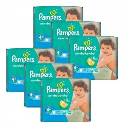 Giga Pack 288 Couches Pampers Active Baby Dry taille 4+ sur Promo Couches