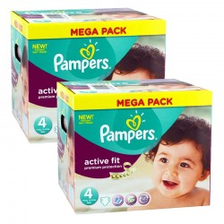 Giga Pack 840 Couches Pampers Active Fit - Premium Protection taille 4