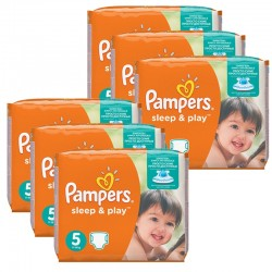 Mega Pack 232 Couches Pampers Sleep & Play taille 5