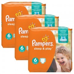 Maxi Pack 120 Couches Pampers Sleep & Play taille 6 sur Promo Couches