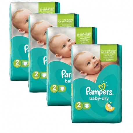 168 Couches Pampers Baby Dry taille 2 sur Promo Couches