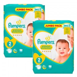 136 Couches Pampers new baby - premium protection taille 2 sur Promo Couches