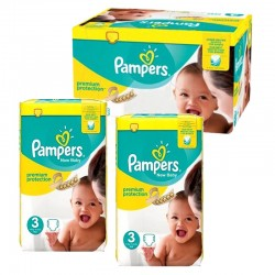150 Couches Pampers premium protection taille 3 sur Promo Couches