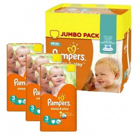 Maxi Pack 328 Couches Pampers Sleep & Play taille 3 sur Promo Couches