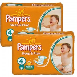 Maxi Pack 108 Couches Pampers Sleep & Play taille 4