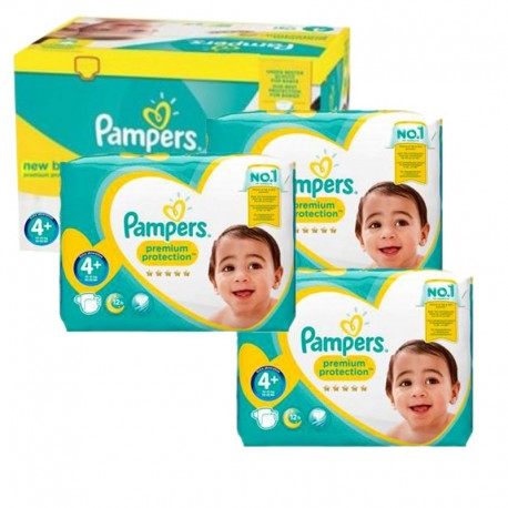 Mega Pack 248 Couches Pampers new baby - premium protection taille 4+ sur Promo Couches