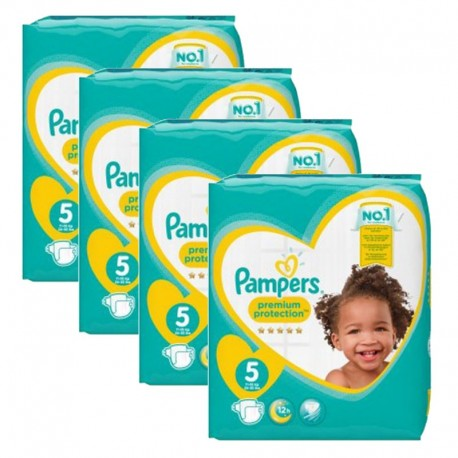 Giga Pack 240 Couches Pampers new baby - premium protection taille 5 sur Promo Couches