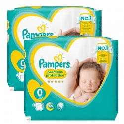 Pack 48 Couches Pampers new baby - premium protection taille 0