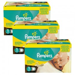 Pack Jumeaux 506 Couches Pampers new baby - premium protection taille 1