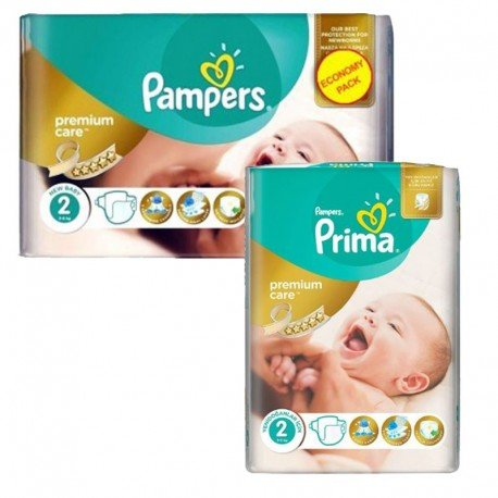 Pack 114 Couches Pampers new baby - premium protection taille 2 sur Promo Couches