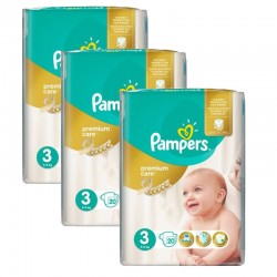 Mega Pack 60 Couches Pampers Premium Care - Prima taille 3