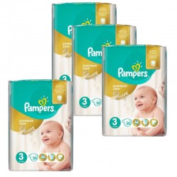 Maxi Pack 100 Couches Pampers Premium Care - Prima taille 3