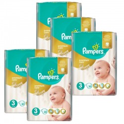 Mega Pack 140 Couches Pampers Premium Care - Prima taille 3