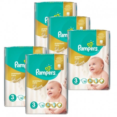 Mega Pack 140 Couches Pampers Premium Care - Prima taille 3 sur Promo Couches
