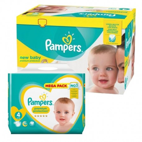 Giga Pack 390 Couches Pampers new baby - premium protection taille 4 sur Promo Couches