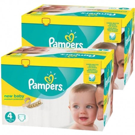pack Jumeaux 585 Couches Pampers new baby - premium protection taille 4 sur Promo Couches