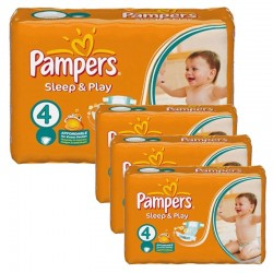 Giga Pack 252 Couches Pampers Sleep & Play taille 4