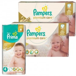 Giga Pack 320 Couches Pampers Premium Care - Prima taille 4