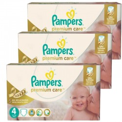 Mega Pack 420 Couches Pampers Premium Care - Prima taille 4 sur Promo Couches
