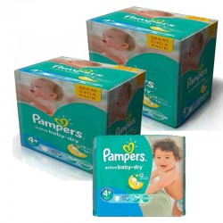 pack Jumeaux 420 Couches Pampers Active Baby Dry taille 4+