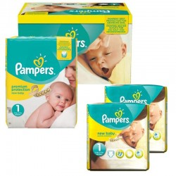 Mega Pack 192 Couches Pampers new baby - premium protection taille 1 sur Promo Couches