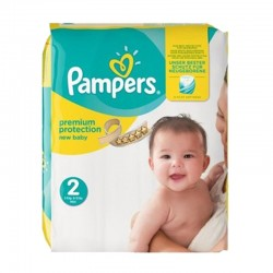 Pack 22 Couches Pampers new baby - premium protection taille 2 sur Promo Couches