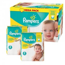 Maxi Pack 198 Couches Pampers new baby - premium protection taille 2 sur Promo Couches