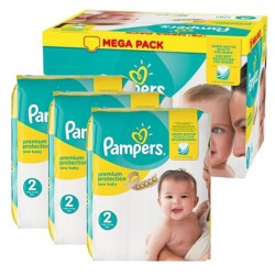 Maxi Pack 220 Couches Pampers new baby - premium protection taille 2 sur Promo Couches